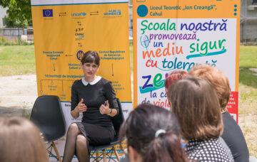 Școlile din Cahul își iau angajamentul de a promova medii școlare sigure, cu toleranță zero la cazurile de violență față de copii