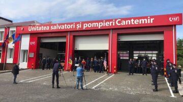 A avut loc inaugurarea Unității de salvatori și pompieri din Cantemir, construită cu ajutorul Ambasadei SUA în Moldova