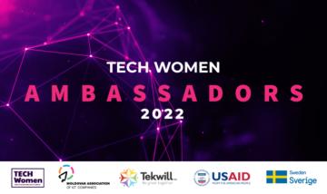"""""""Tech Women Ambassadors"""", 2022 - o nouă provocare pentru fetele și femeile pasionate de IT"""