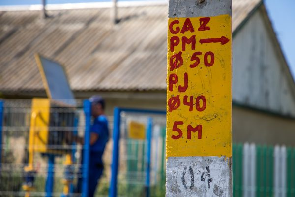 Unul dintre cele trei noi puncte de reglare-măsurare a gazelor naturale de tip dulap, care au fost recent instalate în localitatea Cazangic din raionul Leova
