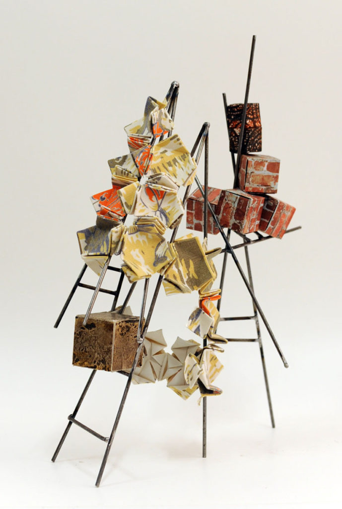 Essentials of Shelter Steel rod, paper, fabric 46x38x20cm