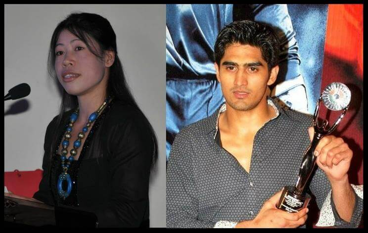 Mary Kom and Vijender Singh - Indian Boxers