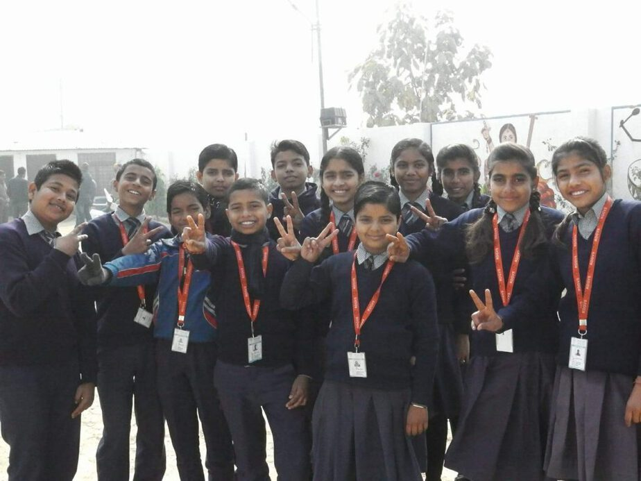 E-Shishya students in Kanpur-Dehat District