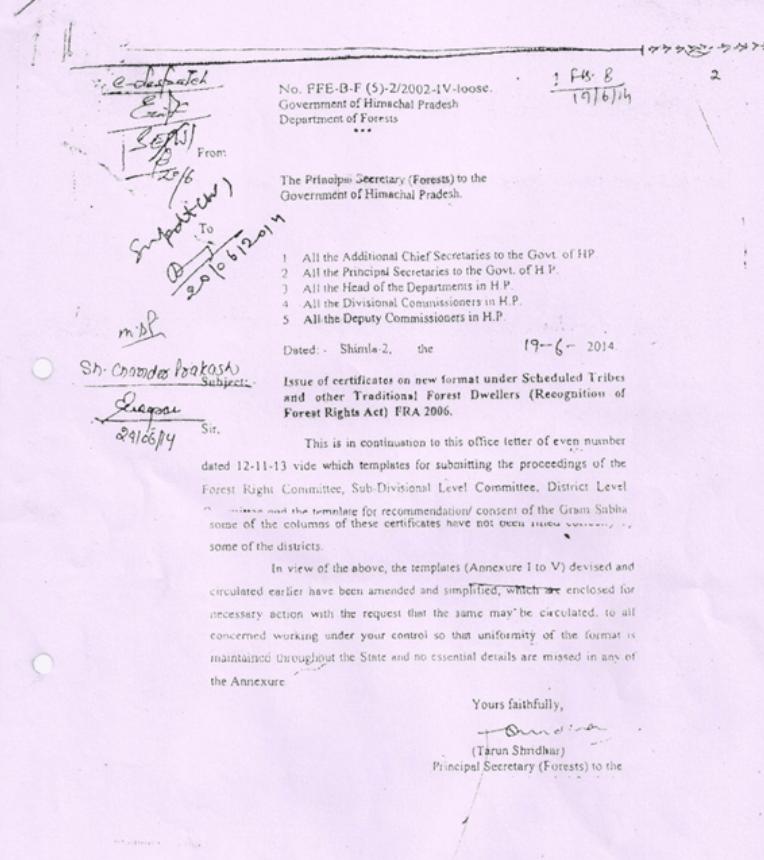 Formats by Principle Secretary