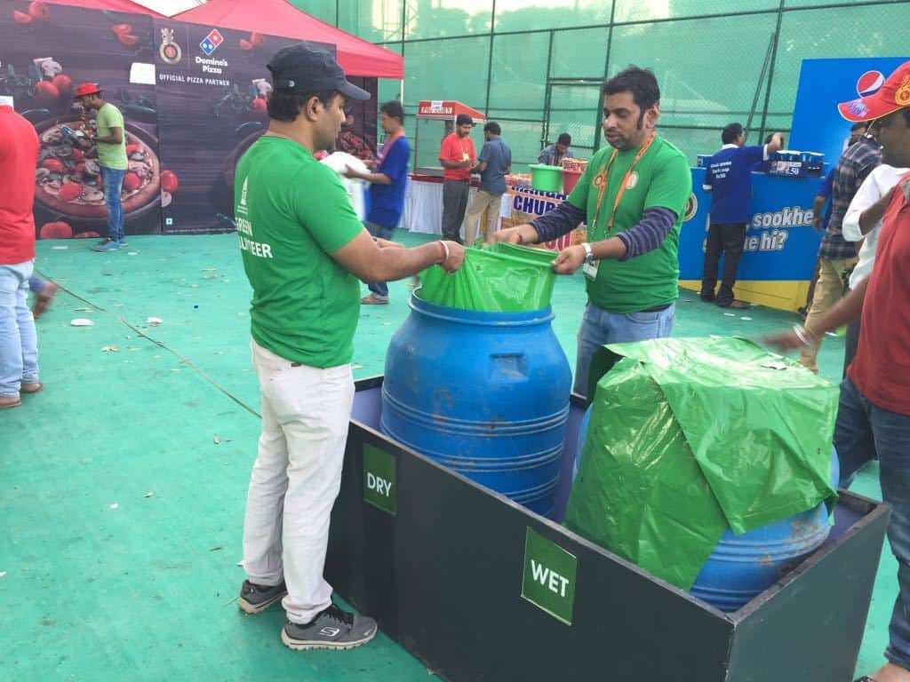 Volunteers Segregating Waste