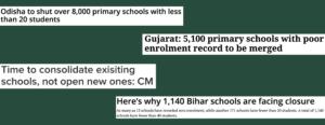 Headlines School Consolidation India
