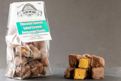 Chocolate Covered Salted Caramel Honeycomb