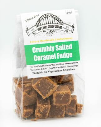 Crumbly Salted Caramel Fudge