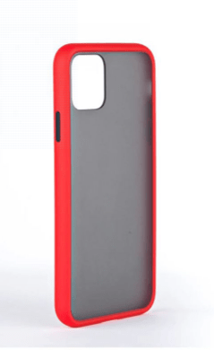 Protective Case Cover For Apple iPhone 11 Black Brushed Red