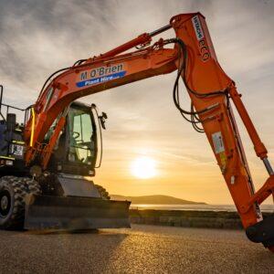 Wheeled Excavator hire