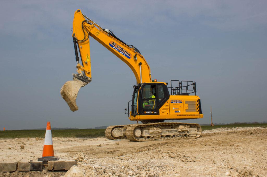 JCB 220X tracked excavator