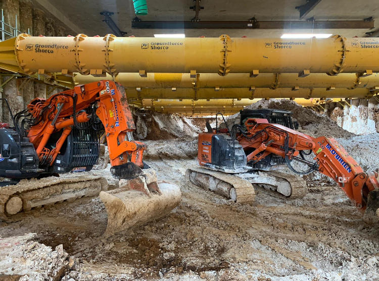 Tunnel spec excavators