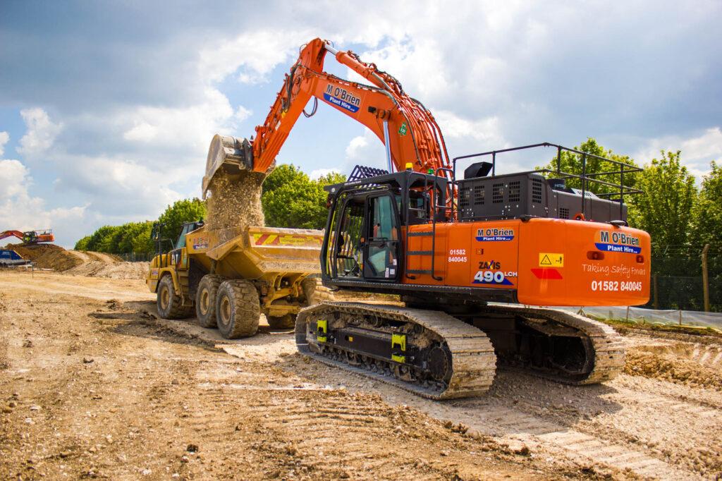 Large excavator Hire