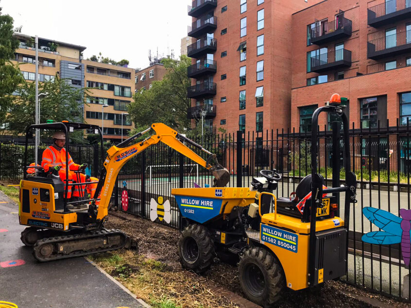 JCB electric excavator