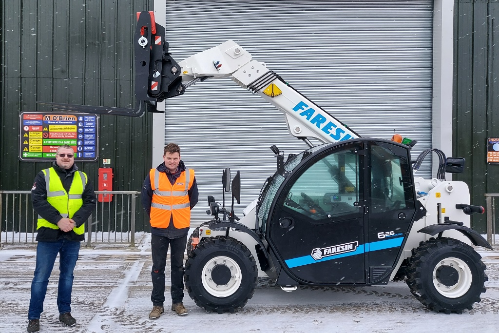 """Featured image for """"M O'Brien Plant Hire expands Electric Telehandler fleet with additional units from Faresin."""""""