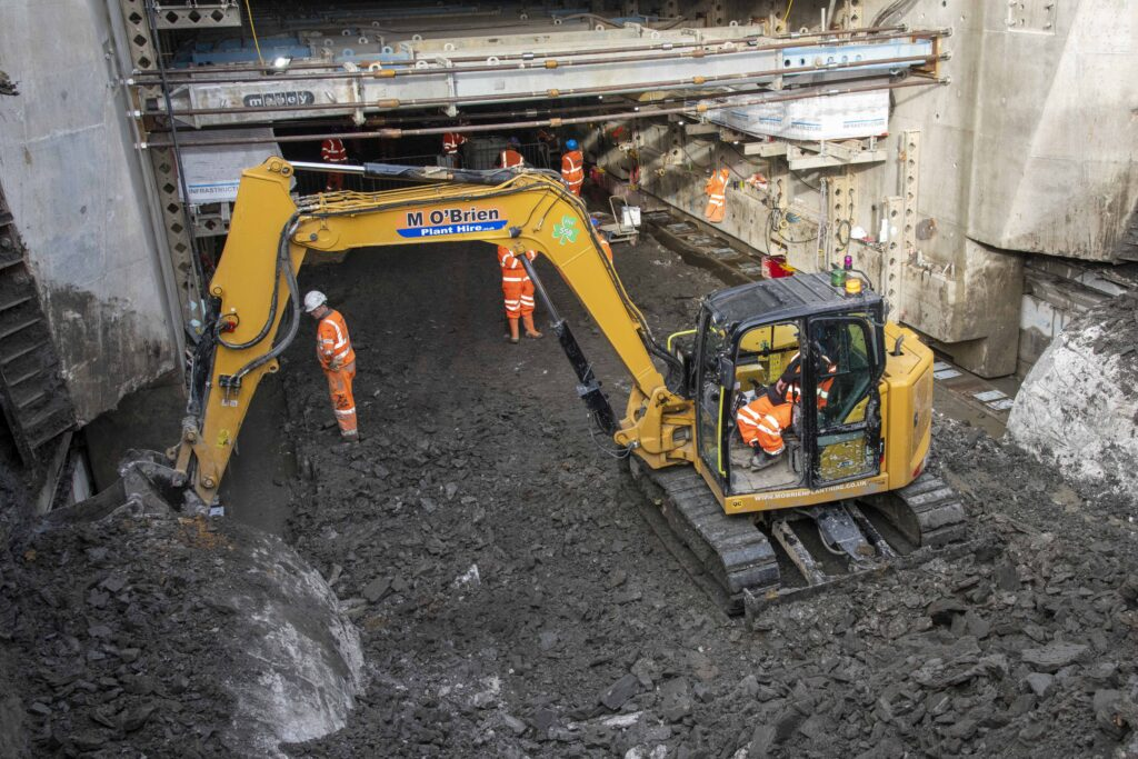 Cat 308 fitted with X watch height and slew limiting system