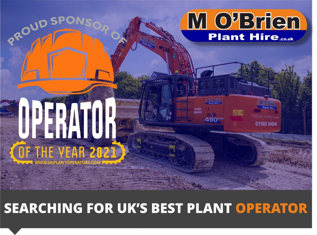 """Featured image for """"M O'Brien announced as proud sponsor and host of the UK Plant operators, operator of the year competition."""""""