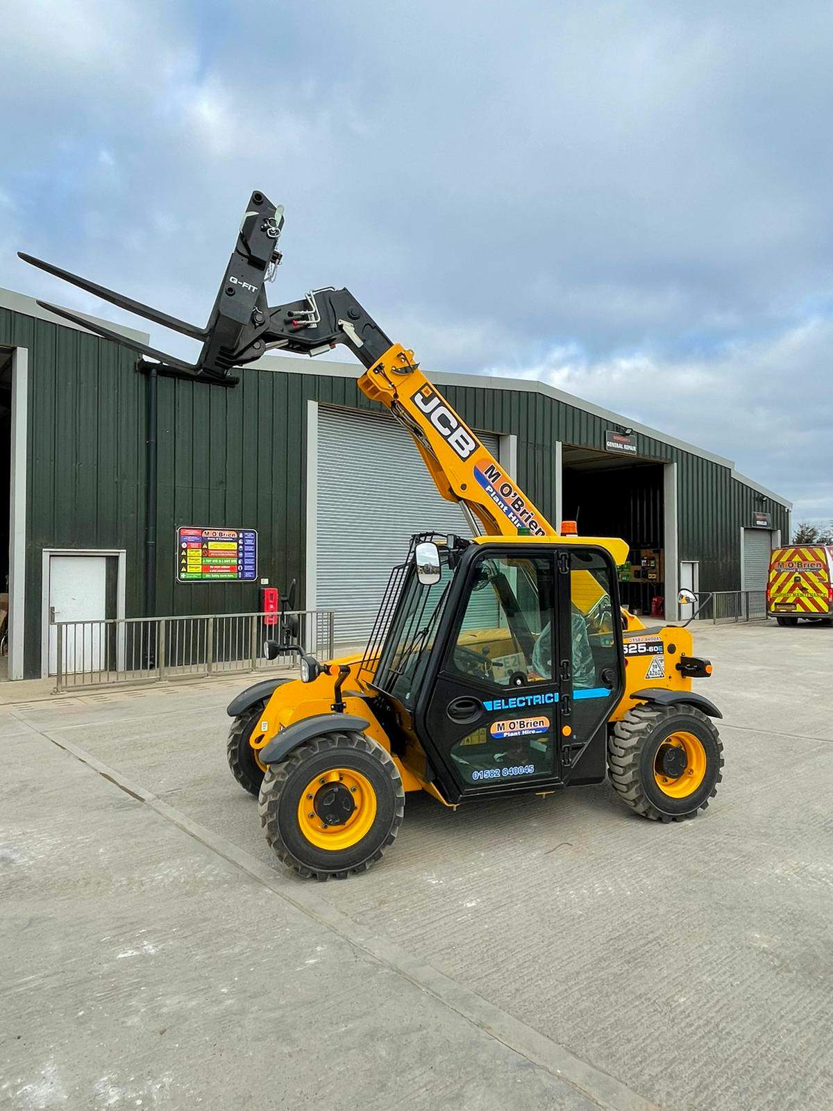 """Featured image for """"M O'Brien adds to electric fleet with first batch of JCB Electric Tele-handlers."""""""