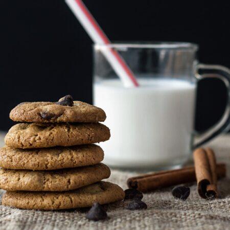 food, milk, to taste