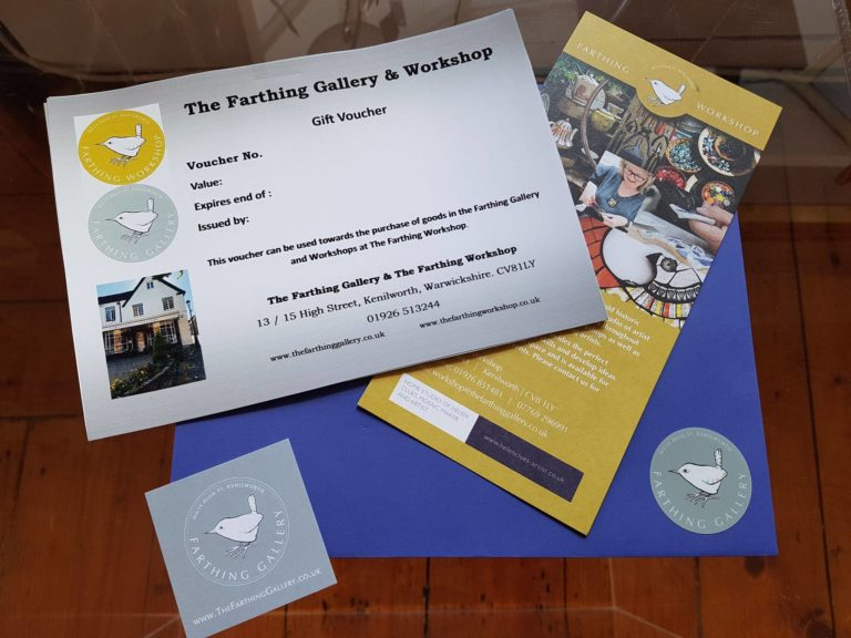 The Farthing Gallery and Workshop Gift Vouchers