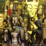 Buddha statues at Chatuchak Weekend Market in Bangkok, Thailand. Photo by Stuart Forster.
