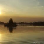 Sunset over Otter Lake near Missinipi in Saskatchewan, Canada. Photo by Stuart Forster.