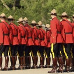 Members of the Royal Canadian Mounted Police in Regina, Saskatchewan, Canada. Photo by Stuart Forster.