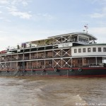 The Viking Mekong cruise ship on the Mekong River. Photo by Stuart Forster.