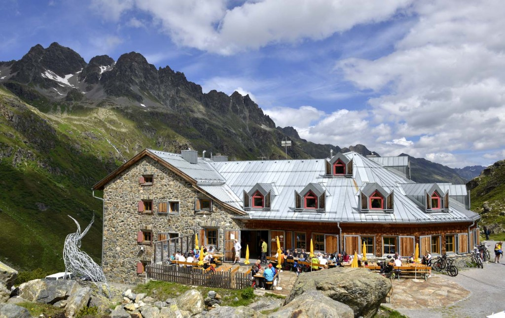The Jamtal Hutte. Michelin chefs cooking in the mountains of Austria around the town of Ischgl. Photo (c) Geoff Moore, Dorset Media Service.
