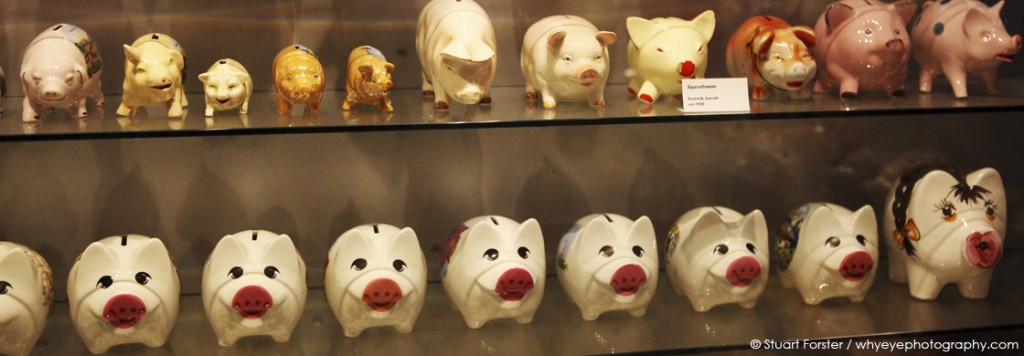 Piggy banks at the Schweine Museum, Stuttgart, Germany