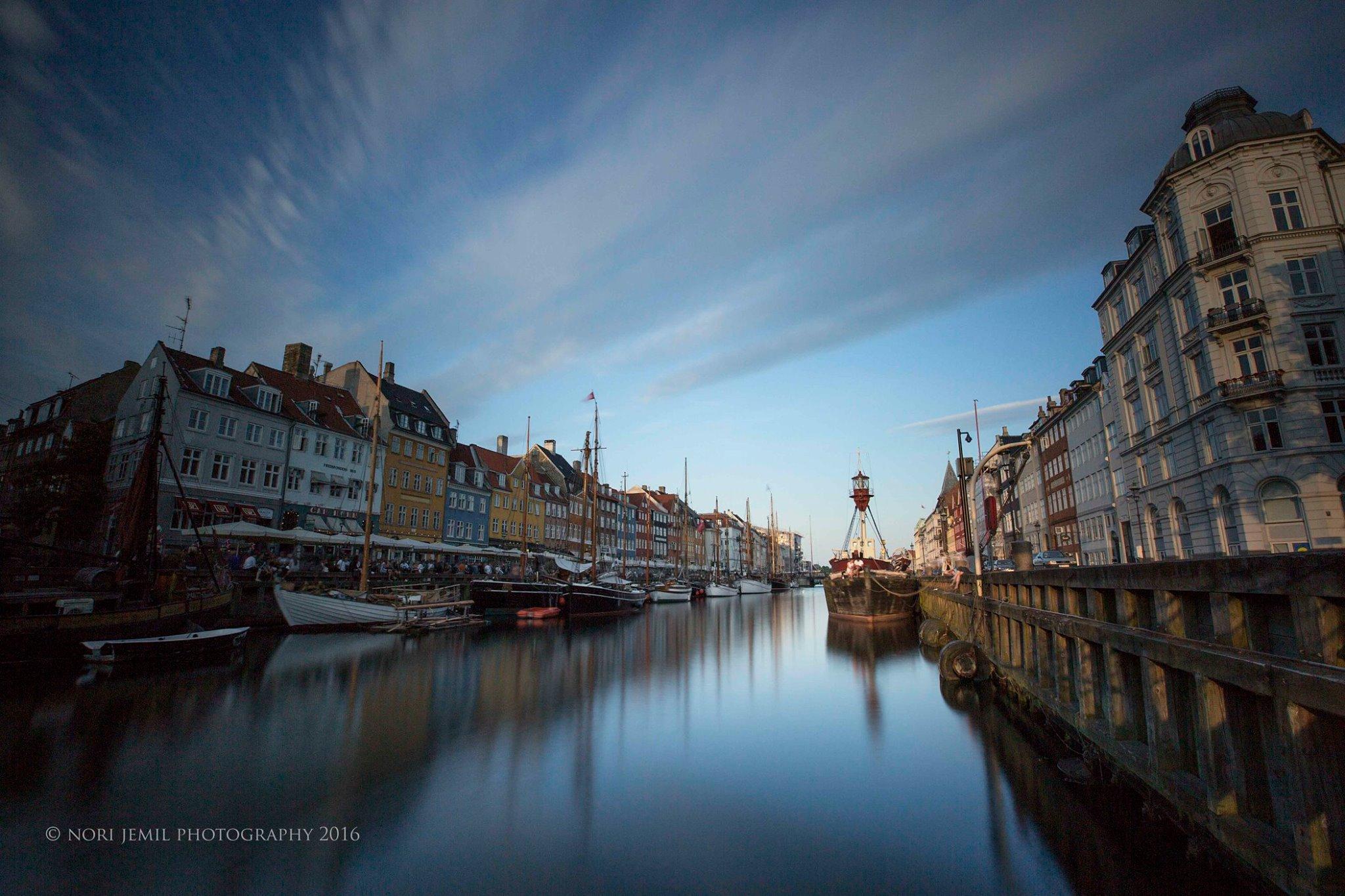 Peaceful waters of Nyhavn, Copenhagen