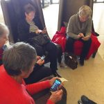 Travel writers on mobile phones
