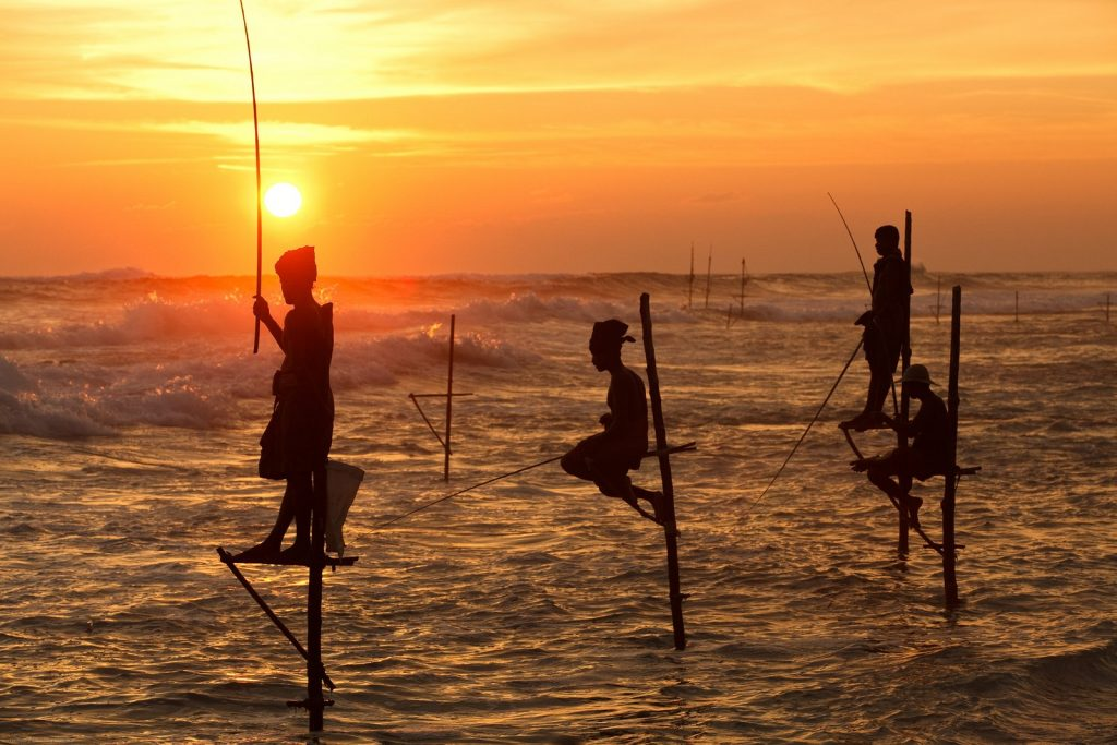 Koggala Beach - Stilt Fishing