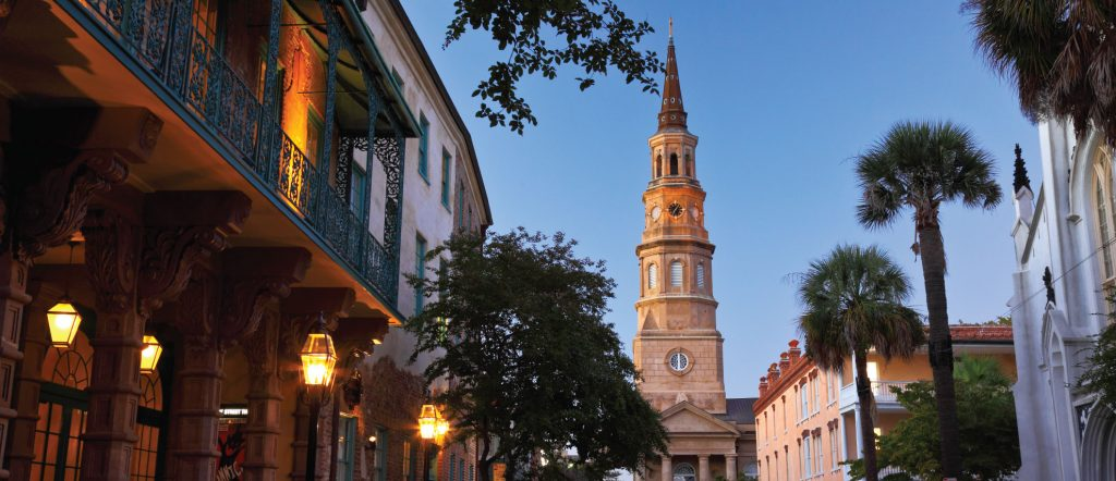 Charleston street and steeple -- BGTW