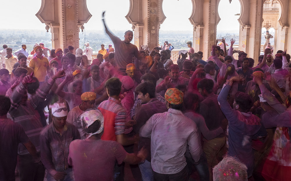 Holi celebrations by Tim Bird.