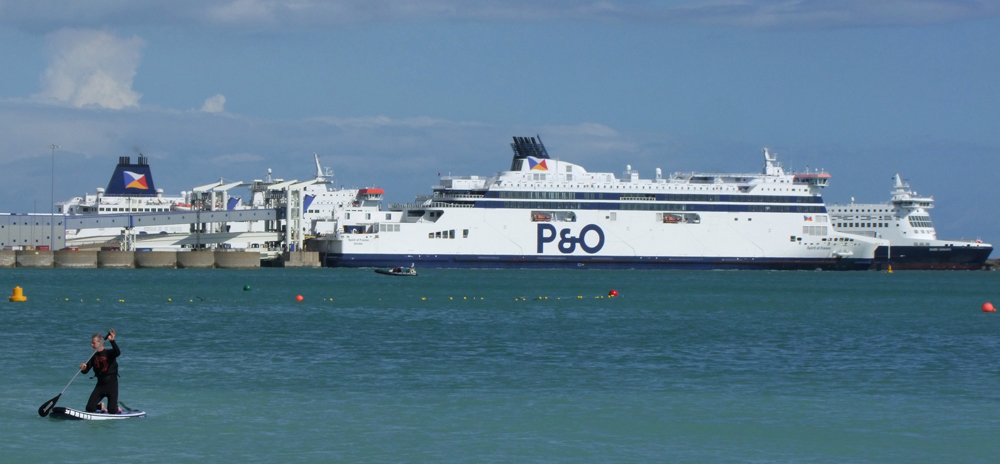 Caroline Mills photographed a scene featuring a P&O ferry at Dover, Kent