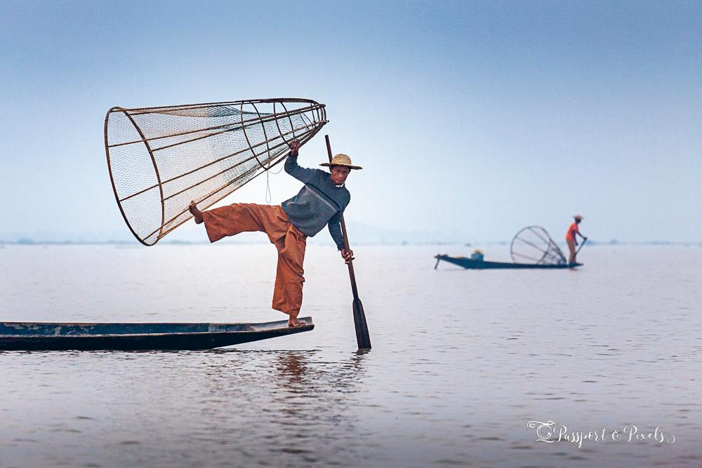 Bella photographed fishermen of Inle Lake, Myanmar