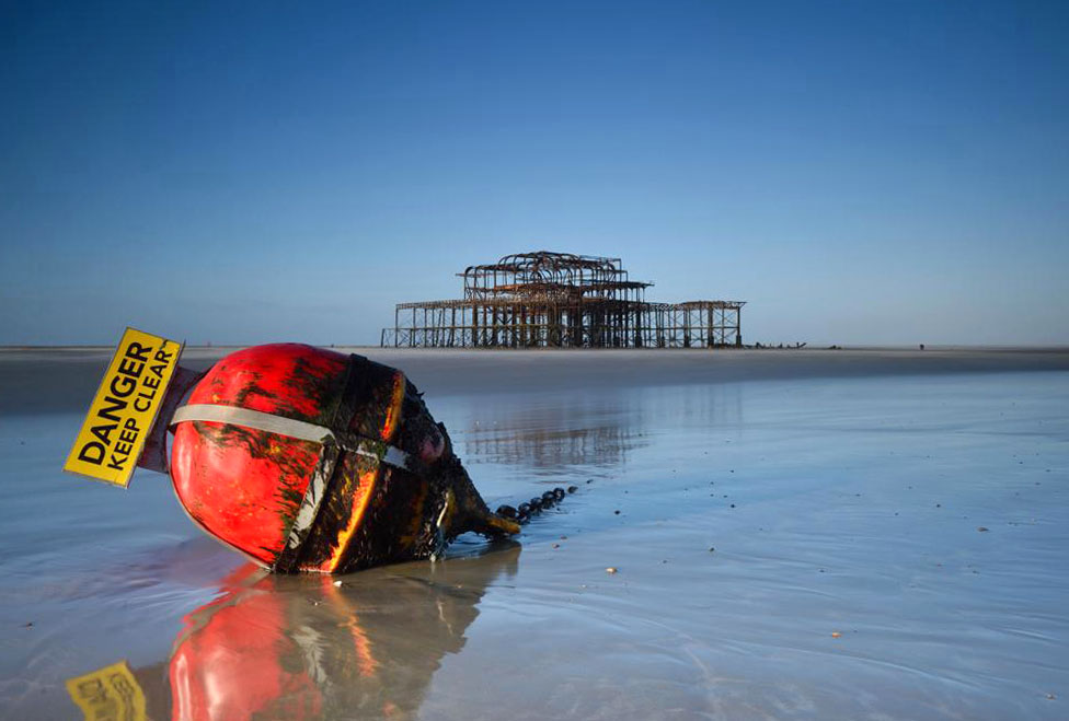 Gary Noakes photographed a bouy near Brighton's West Pier