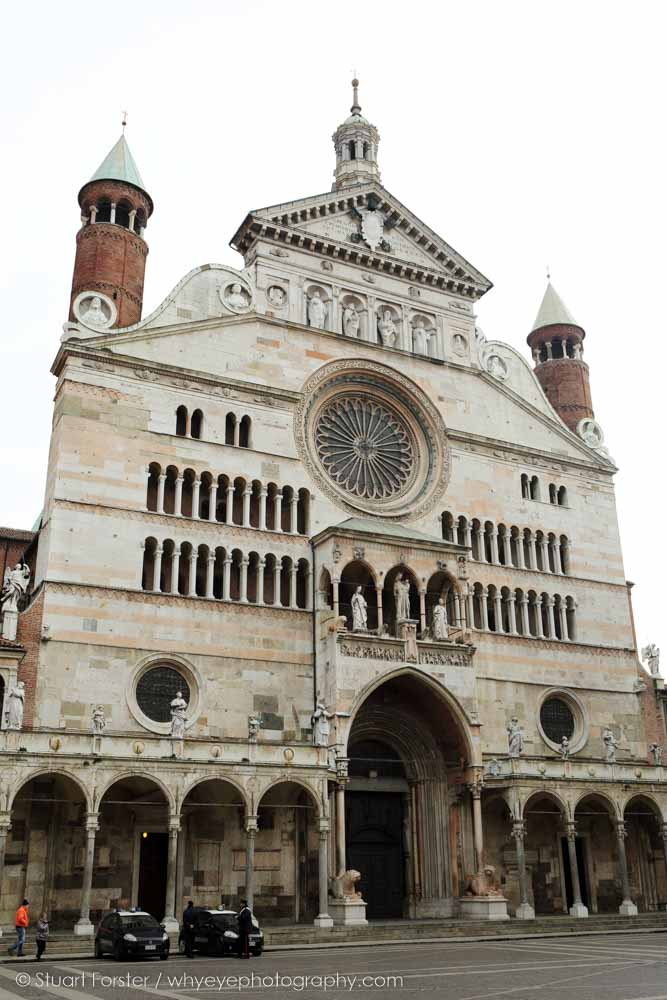 The facade of Cremona Cathedral in Italy, one of the cities visited by Guild members in 2015