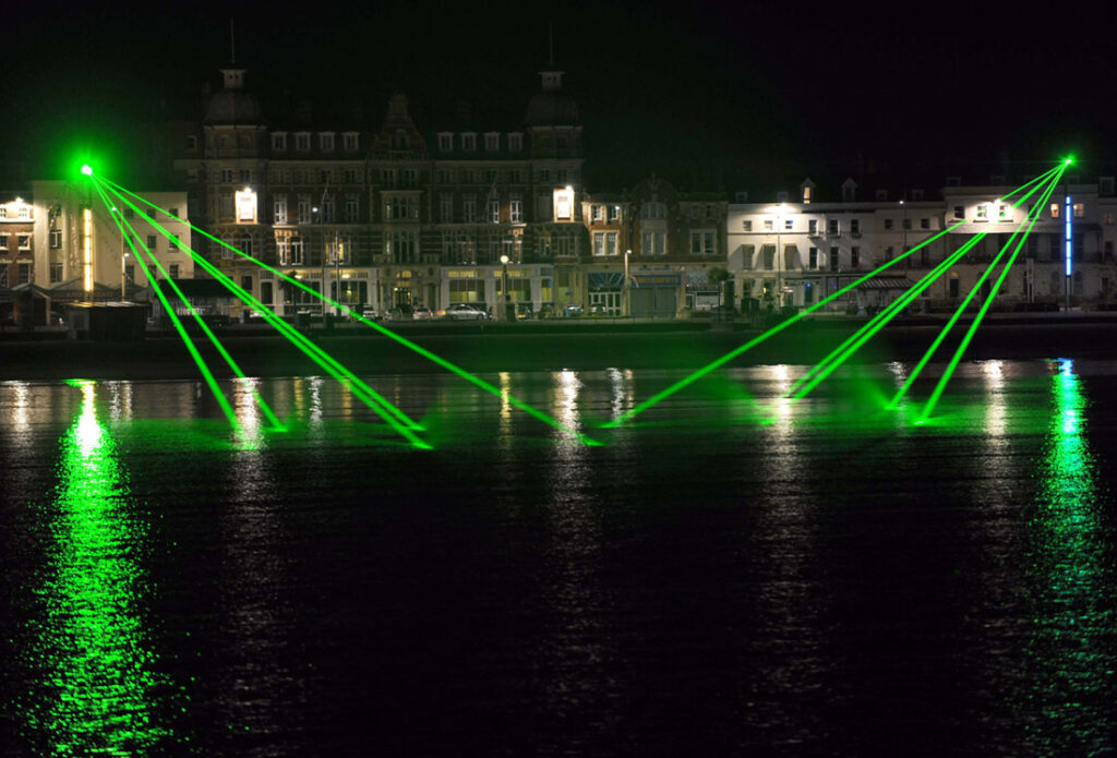 Laser light show at Weymouth, Dorset, by Geoff Moore.