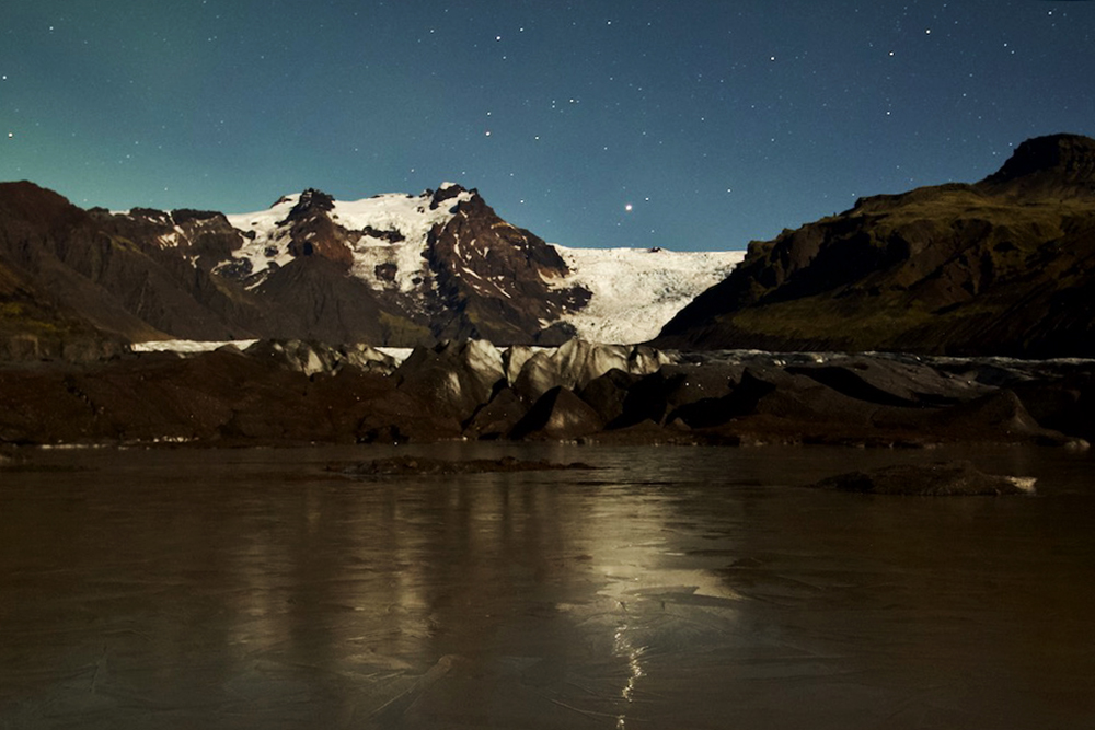 Night landscape from Iceland by Valery Collins