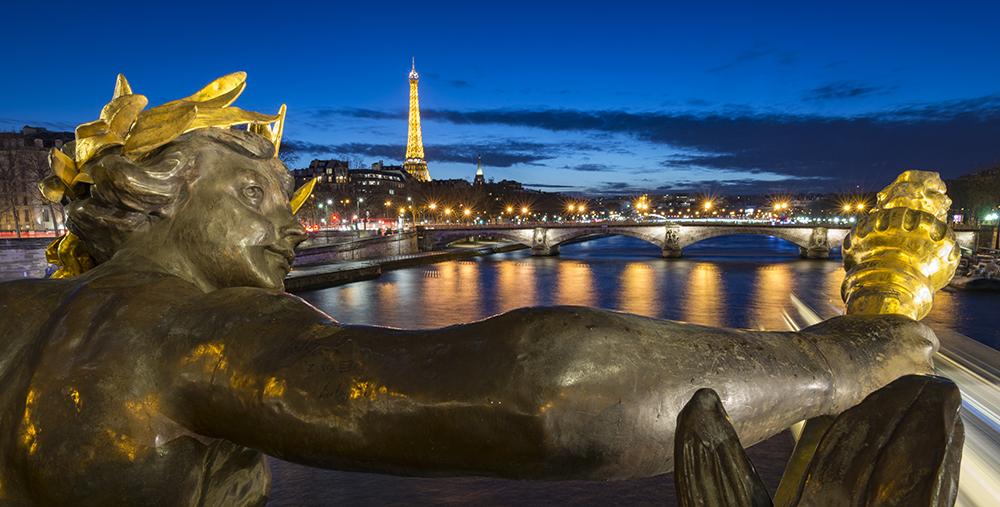 Pont Alexandre III bridge in Paris, France