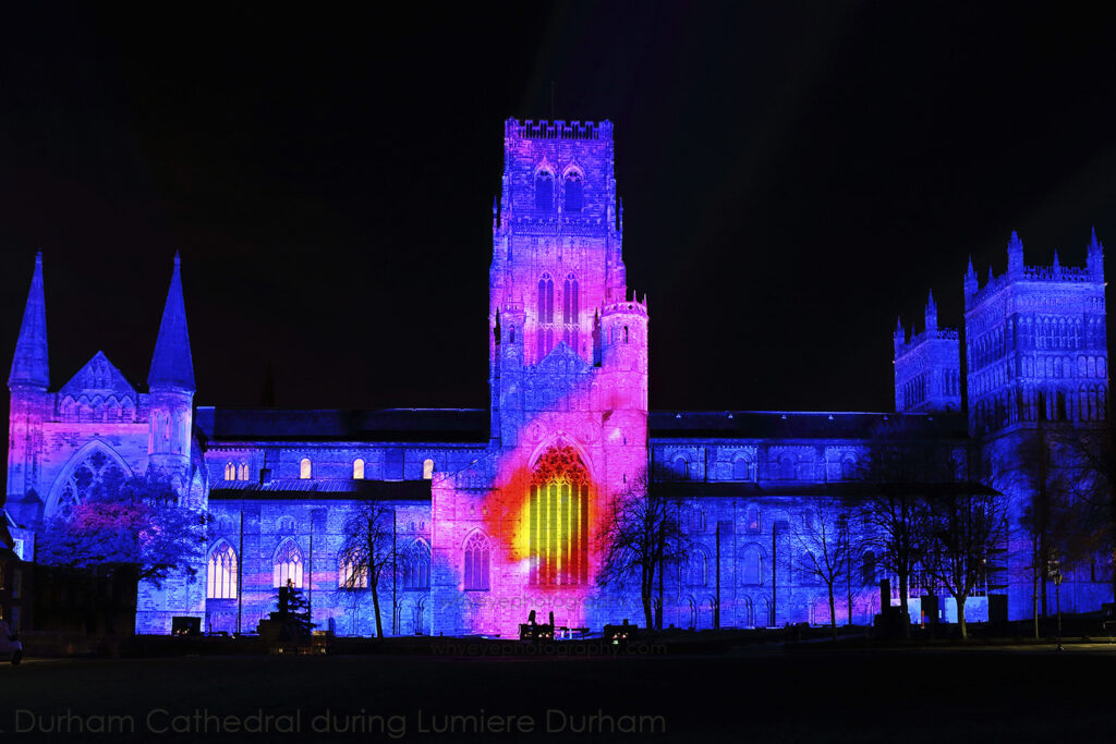 Lumiere Durham festival of lights in Durham, England