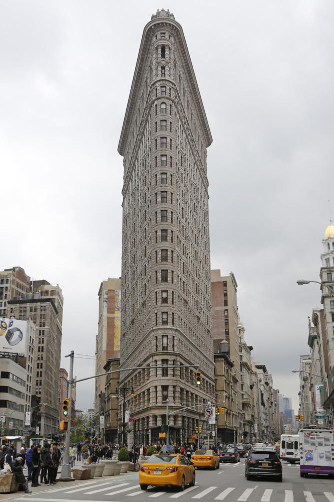 The Flatiron Building in New York City.