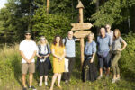 Members of the British Guild of Travel Writers at Lielborne Manor in Latvia