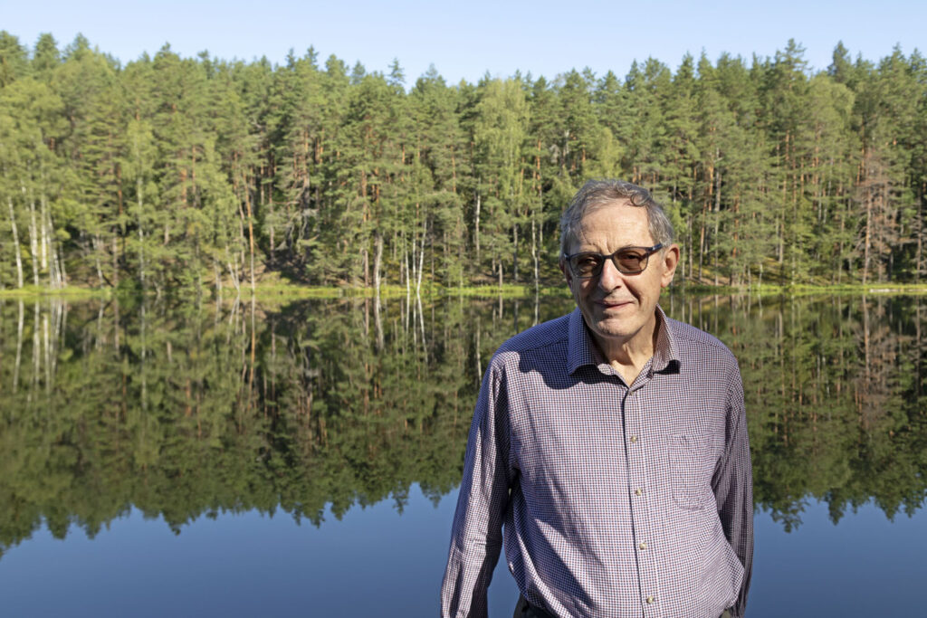 Neil Taylor pictured by the Devil's Lake near Aglona in Latvia's Latgale region