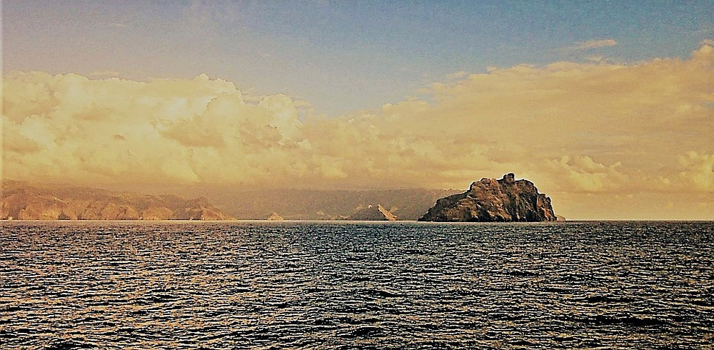 View of Nuku Hiva island in the Marquesas Islands, the most remote archipelago on the planet. Photo is part of the British Guild of Travel Writers Online Photography Exhibition: Adventure.