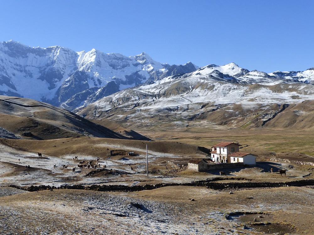 View on the Ausangate Trail, an adventurous route to Macchu Picchu in Peru by Petra Shepherd