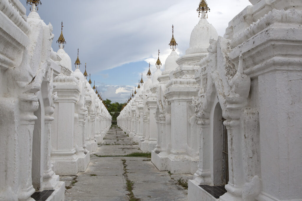 The Tripiṭaka tablets at Kuthodaw Pagoda in Mandalay, Myanmar