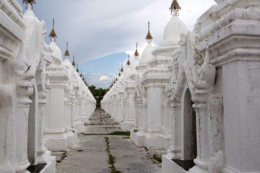 The Tripiṭaka tablets at Kuthodaw Pagoda in Mandalay, Myanmar, consist of more than 700 inscribed marble slabs. Locals claim that the Buddhist text is the world's biggest book.